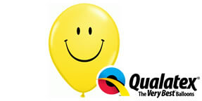 Qualatex 5 Smiley Yellow Face Balloons