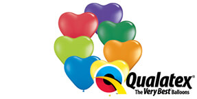 Qualatex 6 Carnival Assortment Heart Shaped Balloons