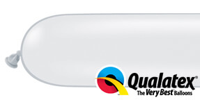 Qualatex 160q White Modelling Balloons