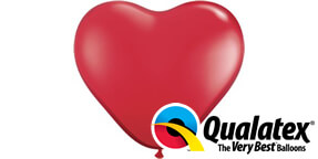 Qualatex Red Heart Shaped Balloons