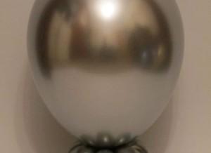 chrome silver round